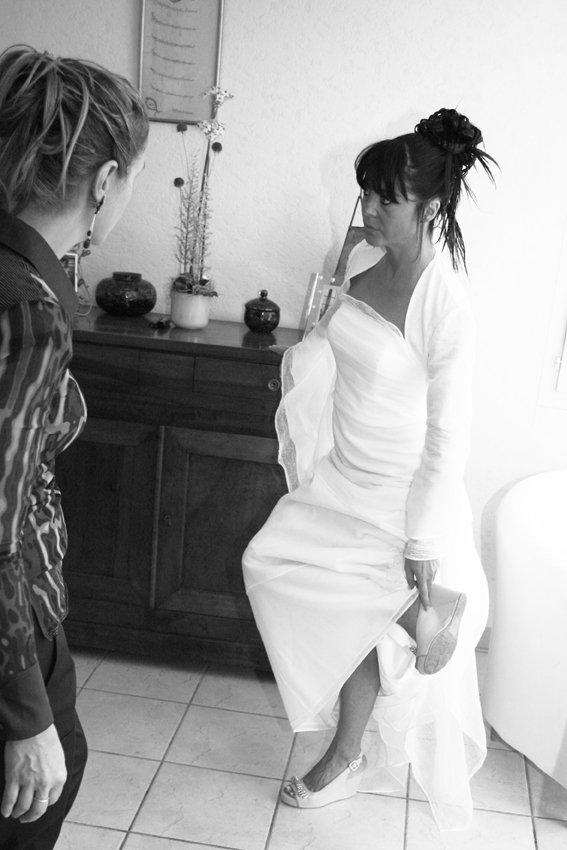 Mariée en préparation
