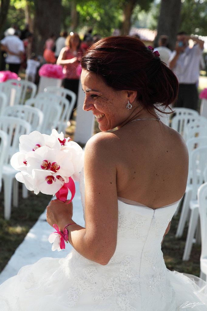 Mariée éclat de rires